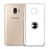 Eiroo Ring Crystal Samsung Galaxy J2 Core J260F Yüzüklü Siyah Silikon Kılıf
