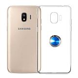 Eiroo Ring Crystal Samsung Galaxy J2 Core J260F Yüzüklü Mavi Silikon Kılıf