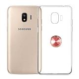 Eiroo Ring Crystal Samsung Galaxy J2 Core J260F Yüzüklü Rose Gold Silikon Kılıf