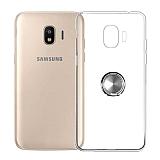 Eiroo Ring Crystal Samsung Galaxy J2 Core J260F Yüzüklü Silver Silikon Kılıf