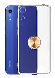 Eiroo Ring Crystal Honor 8A Gold Yüzüklü Silikon Kılıf