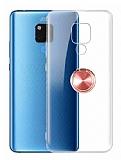 Eiroo Ring Crystal Huawei Mate 20 X Yüzüklü Rose Gold Silikon Kılıf