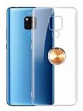 Eiroo Ring Crystal Huawei Mate 20 X Yüzüklü Gold Silikon Kılıf