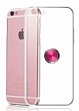Eiroo Ring Crystal iPhone 6 / 6S Pembe Yüzüklü Silikon Kılıf
