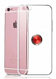 Eiroo Ring Crystal iPhone 6 / 6S Kırmızı Yüzüklü Silikon Kılıf