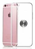 Eiroo Ring Crystal iPhone 6 / 6S Füme Yüzüklü Silikon Kılıf