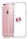 Eiroo Ring Crystal iPhone 6 / 6S Rose Gold Yüzüklü Silikon Kılıf