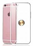 Eiroo Ring Crystal iPhone 6 / 6S Gold Yüzüklü Silikon Kılıf