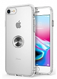 Eiroo Ring Crystal iPhone 7 / 8 Füme Yüzüklü Silikon Kılıf