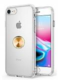 Eiroo Ring Crystal iPhone 7 / 8 Yüzüklü Gold Silikon Kılıf