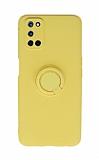 Eiroo Ring Color Oppo A72 Yüzüklü Sarı Silikon Kılıf