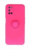 Eiroo Ring Color Oppo A72 Yüzüklü Pembe Silikon Kılıf