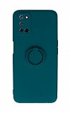 Eiroo Ring Color Oppo A72 Yüzüklü Yeşil Silikon Kılıf