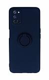 Eiroo Ring Color Oppo A72 Yüzüklü Lacivert Silikon Kılıf