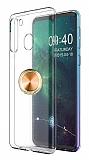 Eiroo Ring Crystal Samsung Galaxy A21 Gold Yüzüklü Silikon Kılıf