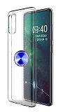 Eiroo Ring Crystal Samsung Galaxy A51 Lacivert Yüzüklü Silikon Kılıf