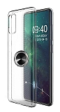 Eiroo Ring Crystal Samsung Galaxy A51 Siyah Yüzüklü Silikon Kılıf