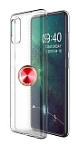 Eiroo Ring Crystal Samsung Galaxy A51 Kırmızı Yüzüklü Silikon Kılıf