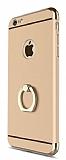 Eiroo Ring Fit iPhone 6 / 6S Selfie Yüzüklü Gold Rubber Kılıf