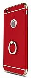 Eiroo Ring Fit iPhone 6 Plus / 6S Plus Selfie Yüzüklü Kırmızı Rubber Kılıf
