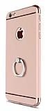 Eiroo Ring Fit iPhone 6 Plus / 6S Plus Selfie Yüzüklü Rose Gold Rubber Kılıf
