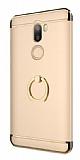 Eiroo Ring Fit Xiaomi Mi 5s Plus Selfie Yüzüklü Gold Rubber Kılıf