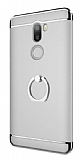 Eiroo Ring Fit Xiaomi Mi 5s Plus Selfie Yüzüklü Silver Rubber Kılıf