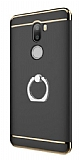 Eiroo Ring Fit Xiaomi Mi 5s Plus Selfie Yüzüklü Siyah Rubber Kılıf