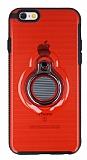Eiroo Ring Flug iPhone 6 / 6S Selfie Yüzüklü Kırmızı Rubber Kılıf