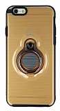 Eiroo Ring Flug iPhone 6 Plus / 6S Plus Selfie Yüzüklü Gold Rubber Kılıf