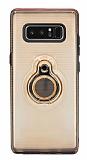 Eiroo Ring Flug Samsung Galaxy Note 8 Selfie Yüzüklü Gold Rubber Kılıf
