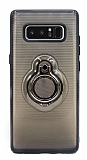 Eiroo Ring Flug Samsung Galaxy Note 8 Selfie Yüzüklü Siyah Rubber Kılıf
