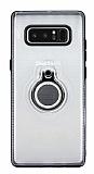 Eiroo Ring Flug Samsung Galaxy Note 8 Selfie Yüzüklü Şeffaf Rubber Kılıf