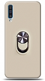 Eiroo Ring Fold Samsung Galaxy A50s Standlı Ultra Koruma Gold Kılıf