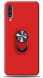 Eiroo Ring Fold Samsung Galaxy A50s Standlı Ultra Koruma Kırmızı Kılıf