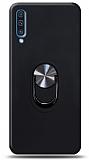 Eiroo Ring Fold Samsung Galaxy A50s Standlı Ultra Koruma Siyah Kılıf