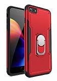 Eiroo Ring Hard iPhone 7 / 8 Ultra Koruma Kırmızı Kılıf