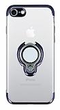 Eiroo Ring Laser iPhone SE 2020 Selfie Yüzüklü Siyah Silikon Kılıf