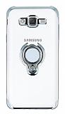 Eiroo Ring Laser Samsung Galaxy J7 / Galaxy J7 Core Selfie Yüzüklü Silver Silikon Kılıf