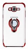 Eiroo Ring Laser Samsung Galaxy J7 / Galaxy J7 Core Selfie Yüzüklü Kırmızı Silikon Kılıf