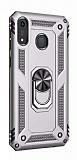 Eiroo Magnet Ring Honor 8A Ultra Koruma Silver Kılıf