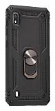 Eiroo Magnet Ring Samsung Galaxy A10 Ultra Koruma Siyah Kılıf
