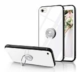 Eiroo Ring Up iPhone 6 / 6S Selfie Yüzüklü Beyaz Cam Kılıf