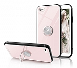 Eiroo Ring Up iPhone 6 / 6S Selfie Yüzüklü Krem Cam Kılıf
