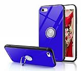 Eiroo Ring Up iPhone 7 / 8 Selfie Yüzüklü Lacivert Cam Kılıf