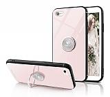 Eiroo Ring Up iPhone 7 / 8 Selfie Yüzüklü Krem Cam Kılıf