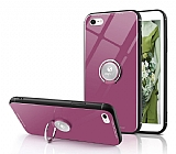 Eiroo Ring Up iPhone 7 / 8 Selfie Yüzüklü Pembe Cam Kılıf
