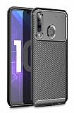 Eiroo Rugged Carbon Honor 20 Lite Siyah Silikon Kılıf