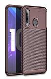 Eiroo Rugged Carbon Honor 20 Lite Kahverengi Silikon Kılıf