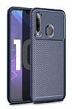 Eiroo Rugged Carbon Honor 20 Lite Lacivert Silikon Kılıf